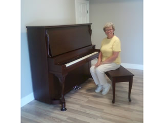 piano refinished