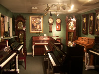 piano and clock showroom